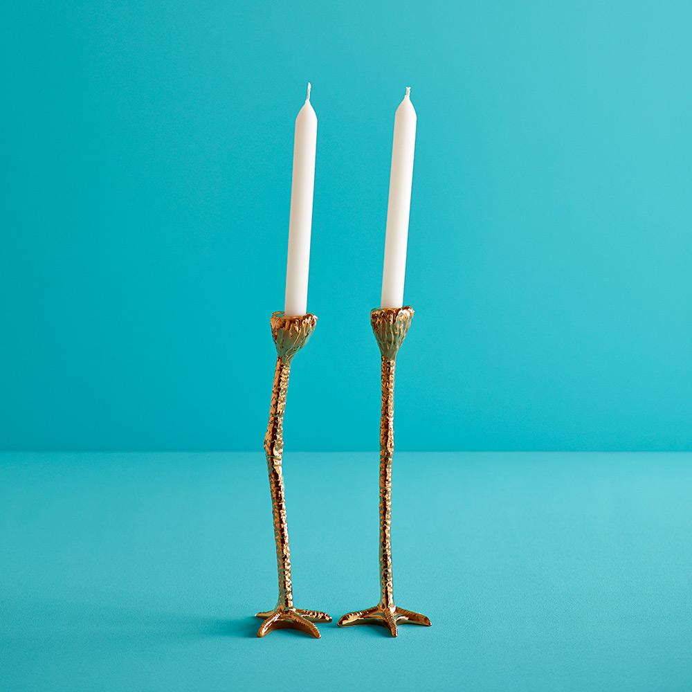 Long Legs Gold Kandelaars
