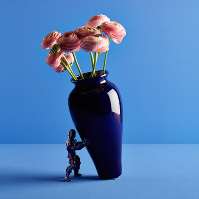 My Superhero Blue Vase
